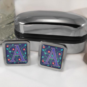 Any Letter Initial Square Cufflinks