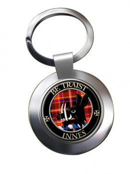 Innes Scottish Clan Chrome Key Ring