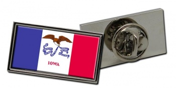 Iowa  Flag Pin Badge