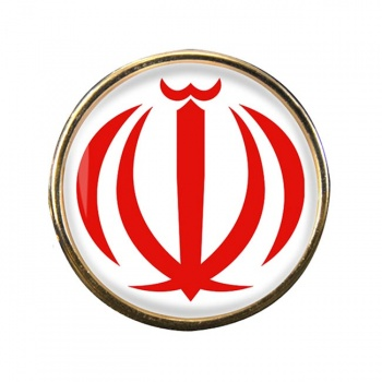 Iran Round Pin Badge