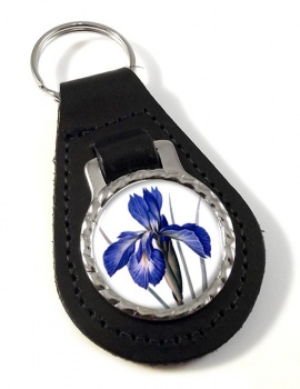 Blue Iris Leather Key Fob