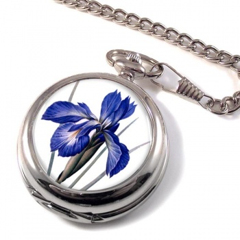 Blue Iris Pocket Watch