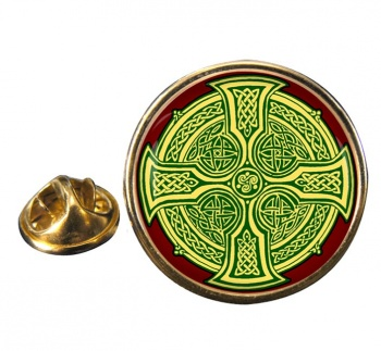 Irish Celtic Cross Pin Badge