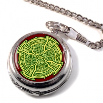 Irish Celtic Cross Pocket Watch