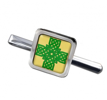 Irish Knot Cross Square Tie Clip