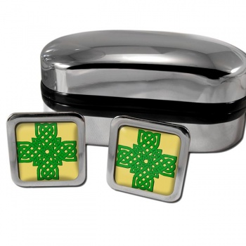 Irish Knot Cross Square Cufflinks