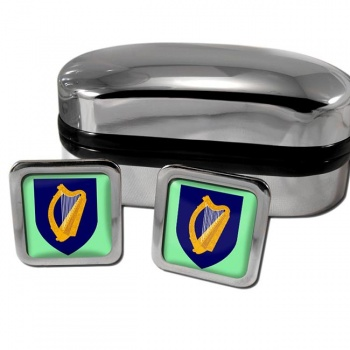 Coat of arms of Ireland Square Cufflinks