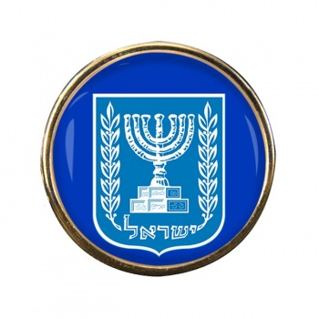 Israel Crest Round Pin Badge