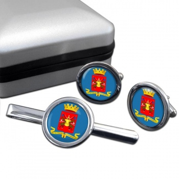 Esercito Italiano Round Cufflink and Tie Clip Set