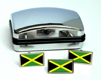 Jamaica Flag Cufflink and Tie Pin Set