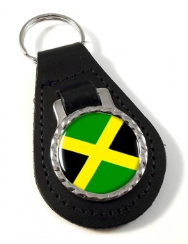 Jamaica Leather Key Fob