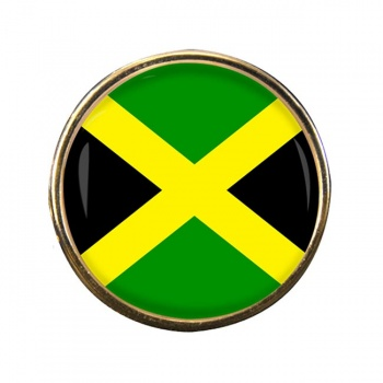 Jamaica Round Pin Badge