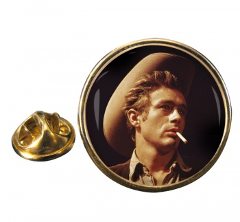 James Dean Round Pin Badge