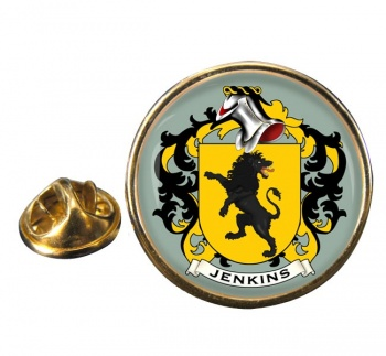Jenkins Coat of Arms Round Pin Badge