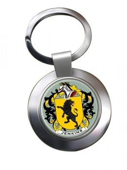Jenkins Coat of Arms Chrome Key Ring