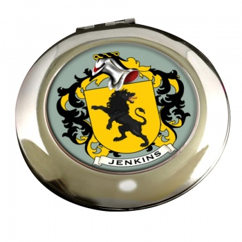 Jenkins Coat of Arms Chrome Mirror