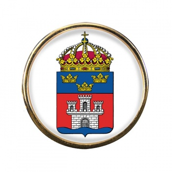 Jonkopings lan (Sweden) Round Pin Badge