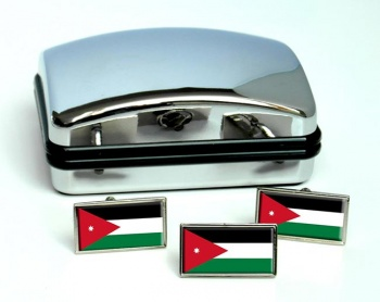 Jordan Flag Cufflink and Tie Pin Set