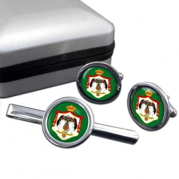 Jordan Round Cufflink and Tie Clip Set