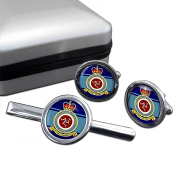 Jurby Round Cufflink and Tie Clip Set