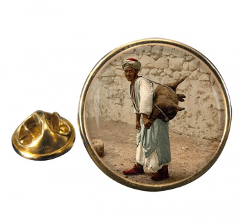 Jerusalem Water Seller Round Pin Badge