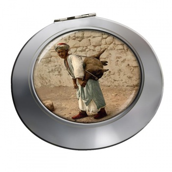 Jerusalem Water Seller Chrome Mirror