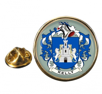 Kelly Coat of Arms Round Pin Badge