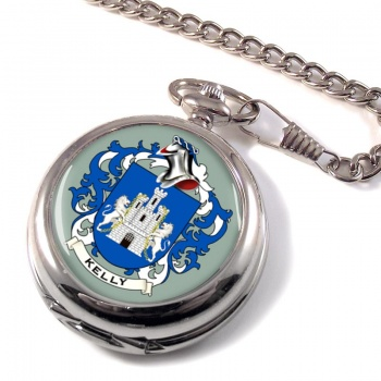 Kelly Coat of Arms Pocket Watch