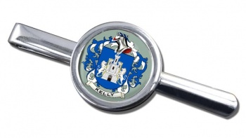 Kelly Coat of Arms Round Tie Clip
