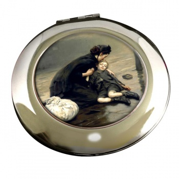 Homeless by Eric Kennington Round Mirror