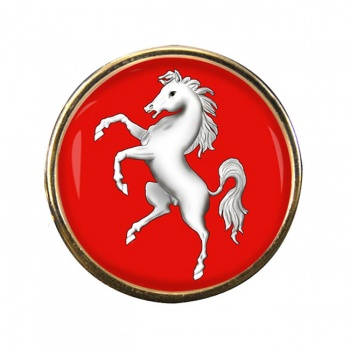 Kent (England) Round Pin Badge