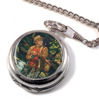 Fly Fishing by Joseph Francis Kernan Pocket Watch