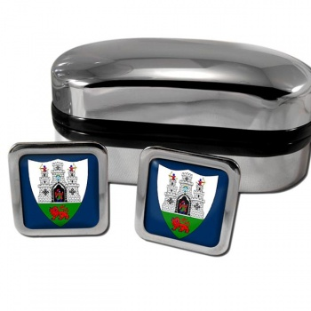 Kilkenny City Ireland Square Cufflinks