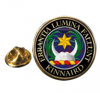 Kinnaird Scottish Clan Round Pin Badge