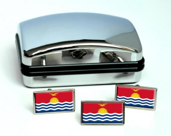 Kiribati Flag Cufflink and Tie Pin Set