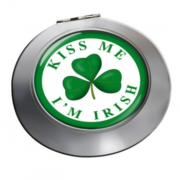 Kiss Me I'm Irish Chrome Mirror