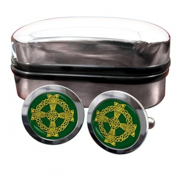 Celtic knot cross Round Cufflinks