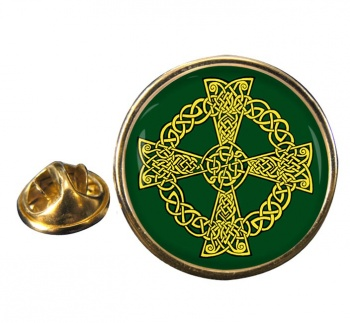 Celtic knot cross Pin Badge