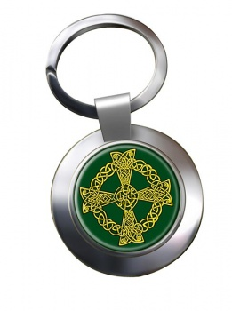 Celtic knot cross Chrome Key Ring
