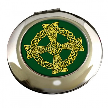 Celtic knot cross Round Mirror