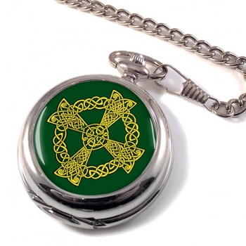 Celtic knot cross Pocket Watch