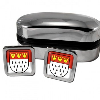Koln Cologne Germany Square Cufflinks