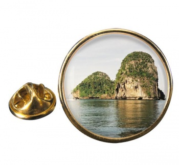 Krabi Thailand Round Pin Badge