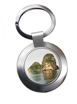 Krabi Thailand Chrome Key Ring