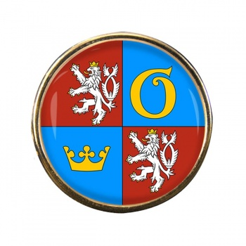 Kralovehradecky Kraj Round Pin Badge