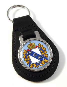 Kursk Oblast Leather Key Fob