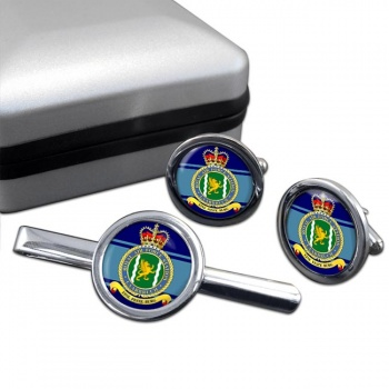 Laarbruch Round Cufflink and Tie Clip Set