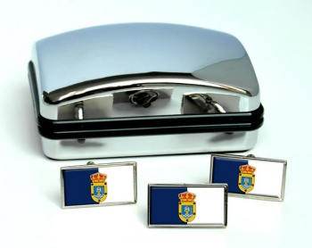 La Palma (Spain) Flag Cufflink and Tie Pin Set