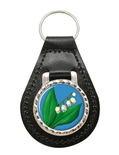 Lily of the Valley Leather Key Fob