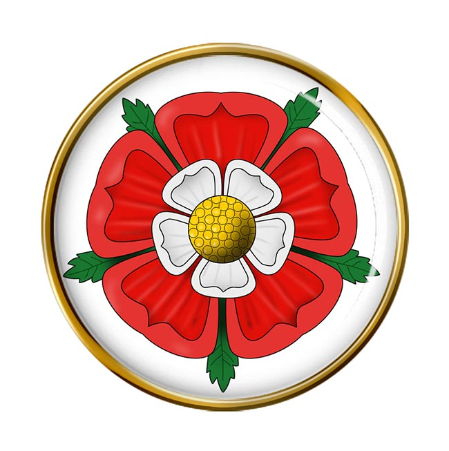 Tudor Rose Round Pin Badge